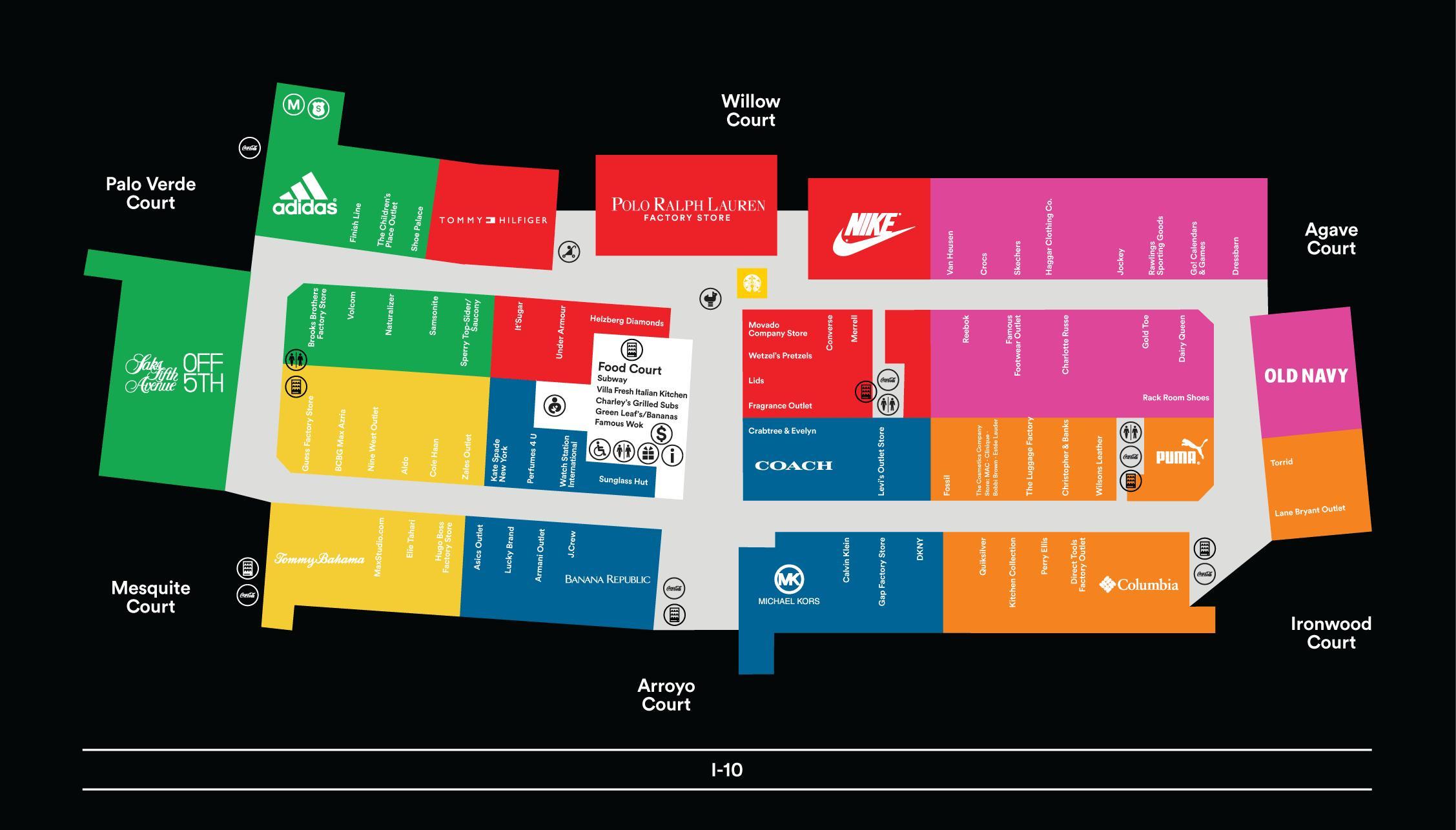 Fashion Island Store Directory