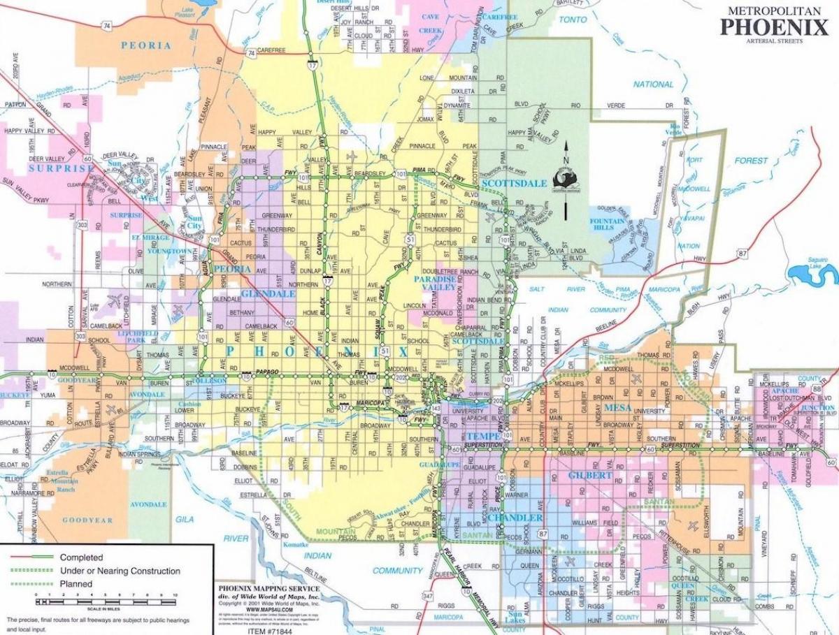 map of phoenix arizona and surrounding areas. map of phoenix and surrounding area  map of phoenix arizona and
