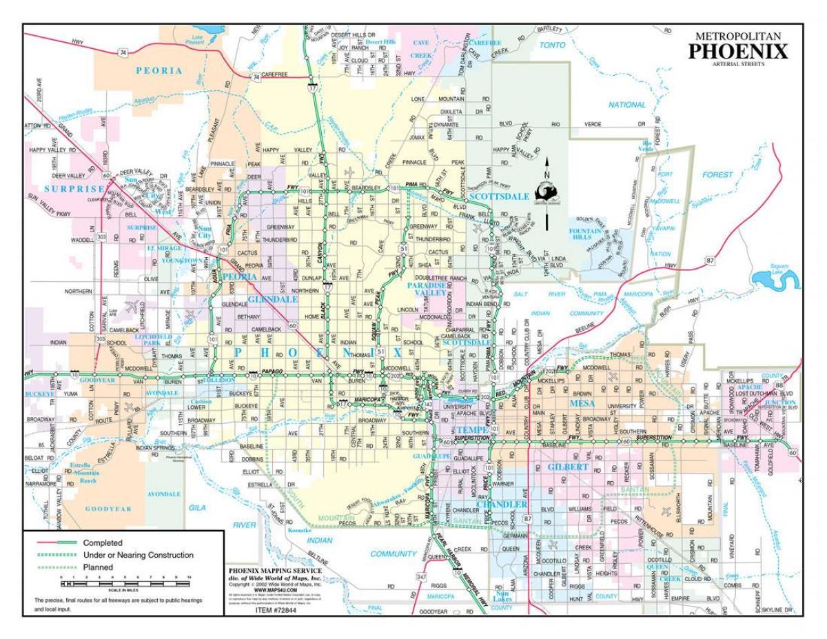 street map phoenix. phoenix street map  street map phoenix (arizona  usa)