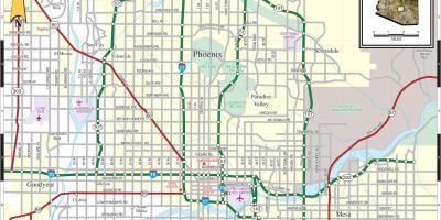 Map Of Greater Phoenix Area Greater Phoenix Area Map