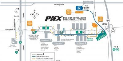 Phx Airport Map Phoenix map   Maps Phoenix (Arizona   USA) Phx Airport Map
