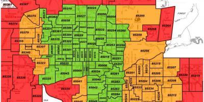 Downtown Phoenix Zip Code Map Phoenix map   Maps Phoenix (Arizona   USA)