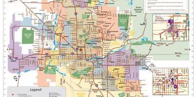 Arizona Breweries Map Phoenix breweries map   Phoenix brewery map (Arizona   USA)