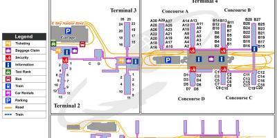 phx map terminal 4 Phoenix Map Maps Phoenix Arizona Usa phx map terminal 4